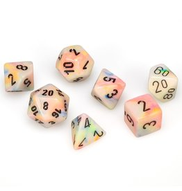 Chessex Polyhedral 7 Dice Set Festive Circus w/Black CHX27442