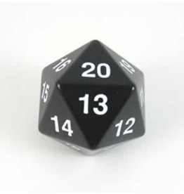 Koplow Games d20 55mm Black Jumbo Spindown