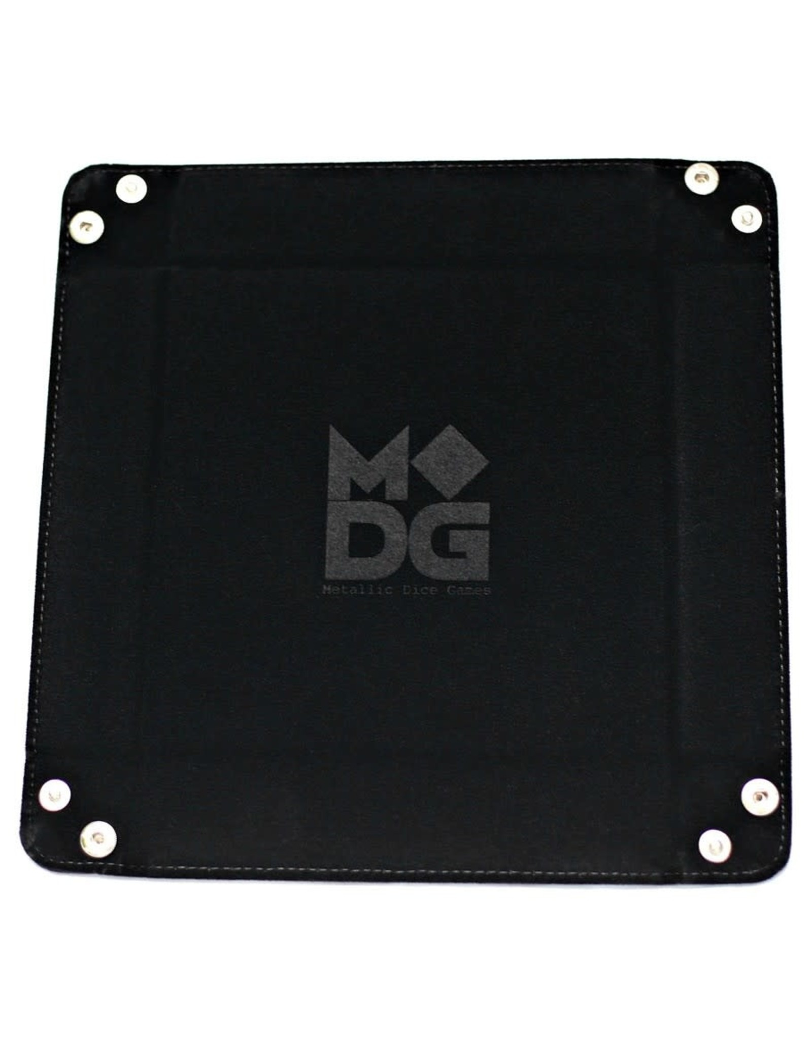 Metallic Dice Games LLC Velvet Folding Dice Tray: Black