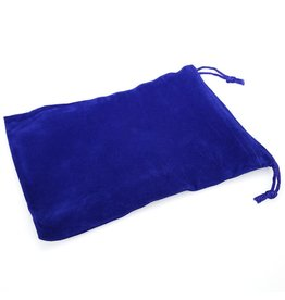 Chessex Velour Suedecloth Large 5in X 7in Blue Dice Bag