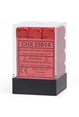 Chessex d6 12mm 36 Dice Set Opaque Red w/Black CHX25814