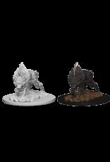 Wizkids Dire Wolf: PF Deep Cuts Unpainted Miniatures