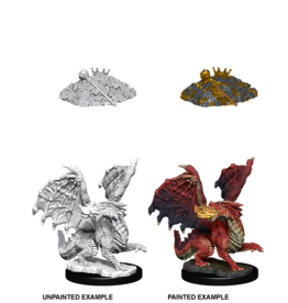 Wizkids W10 Red Dragon Wyrmling: D&D Nolzurs Marvelous Unpainted Minis