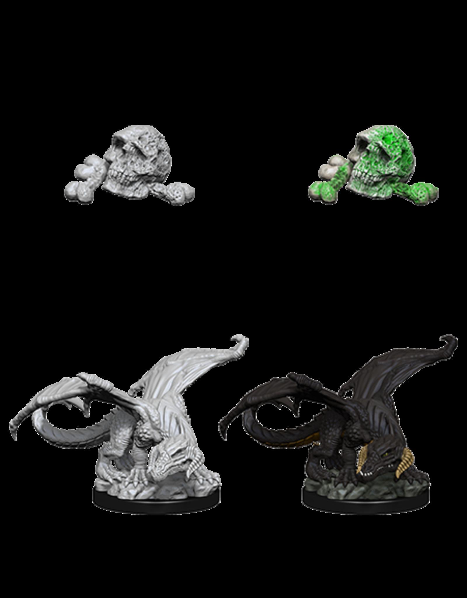 Wizkids W10 Black Dragon Wyrmling: D&D Nolzurs Marvelous Unpainted Minis