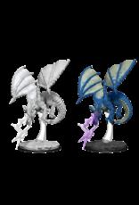 Wizkids D&D Nolzurs Unpainted Minis: Wave 8 Young Blue Dragon