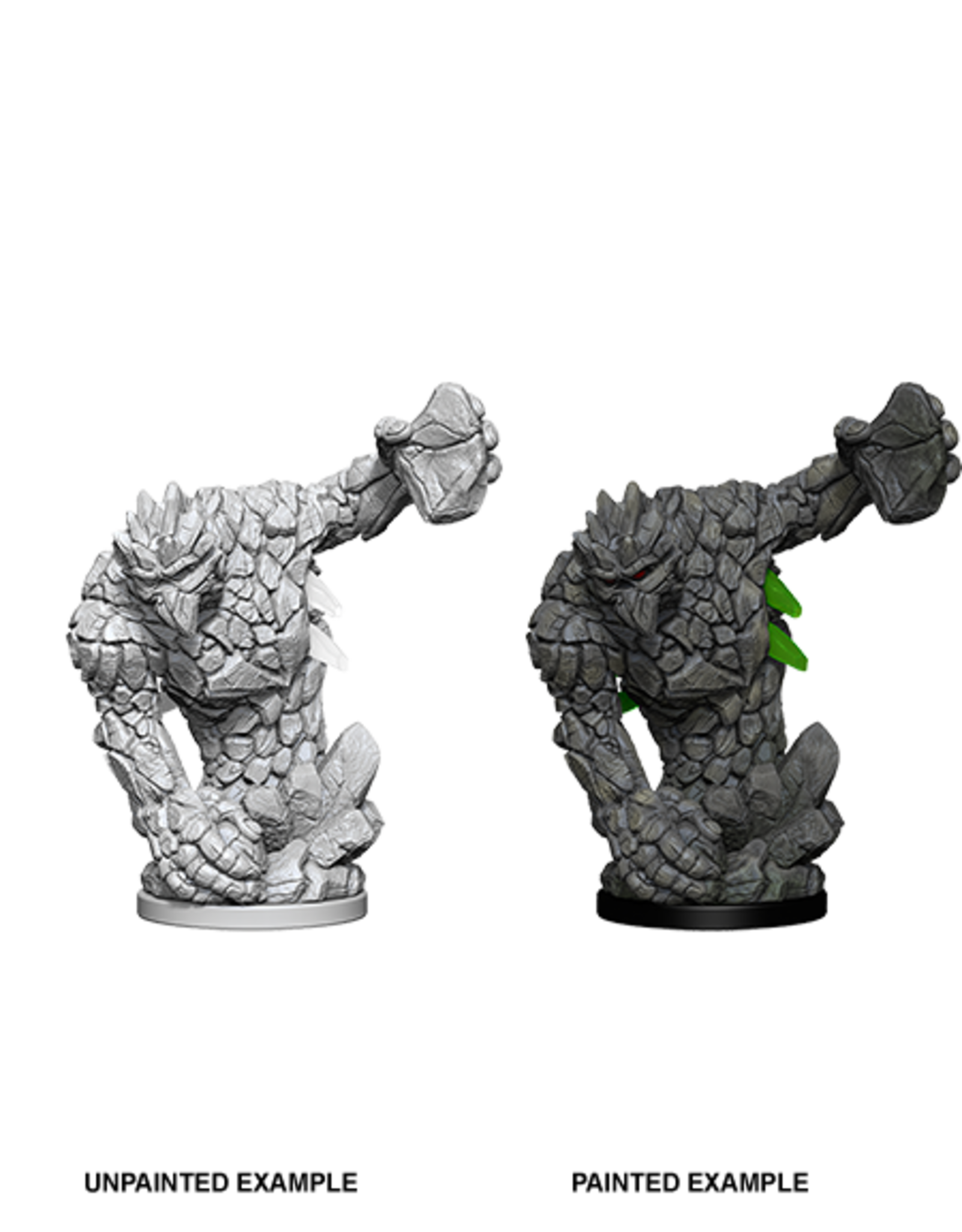 Wizkids Medium Earth Elemental: PF Deep Cuts Unpainted Miniatures