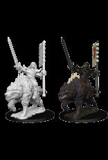 Wizkids Orc on Dire Wolf: PF Deep Cuts Unpainted Miniatures