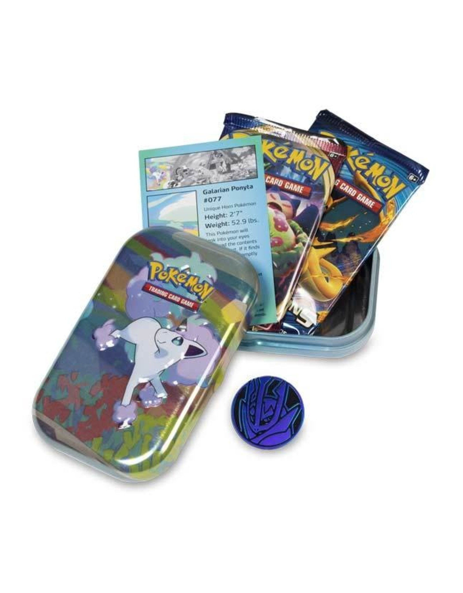 Pokemon Company Pokemon: Galar Pals Mini Tin - Galarian Ponyta