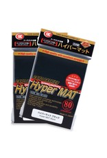 KMC KMC Hyper Matte Black Card Sleeves 80 Count