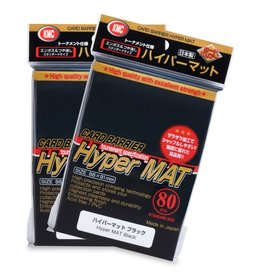 KMC KMC Hyper Matte Black Card Sleeves 80 Count