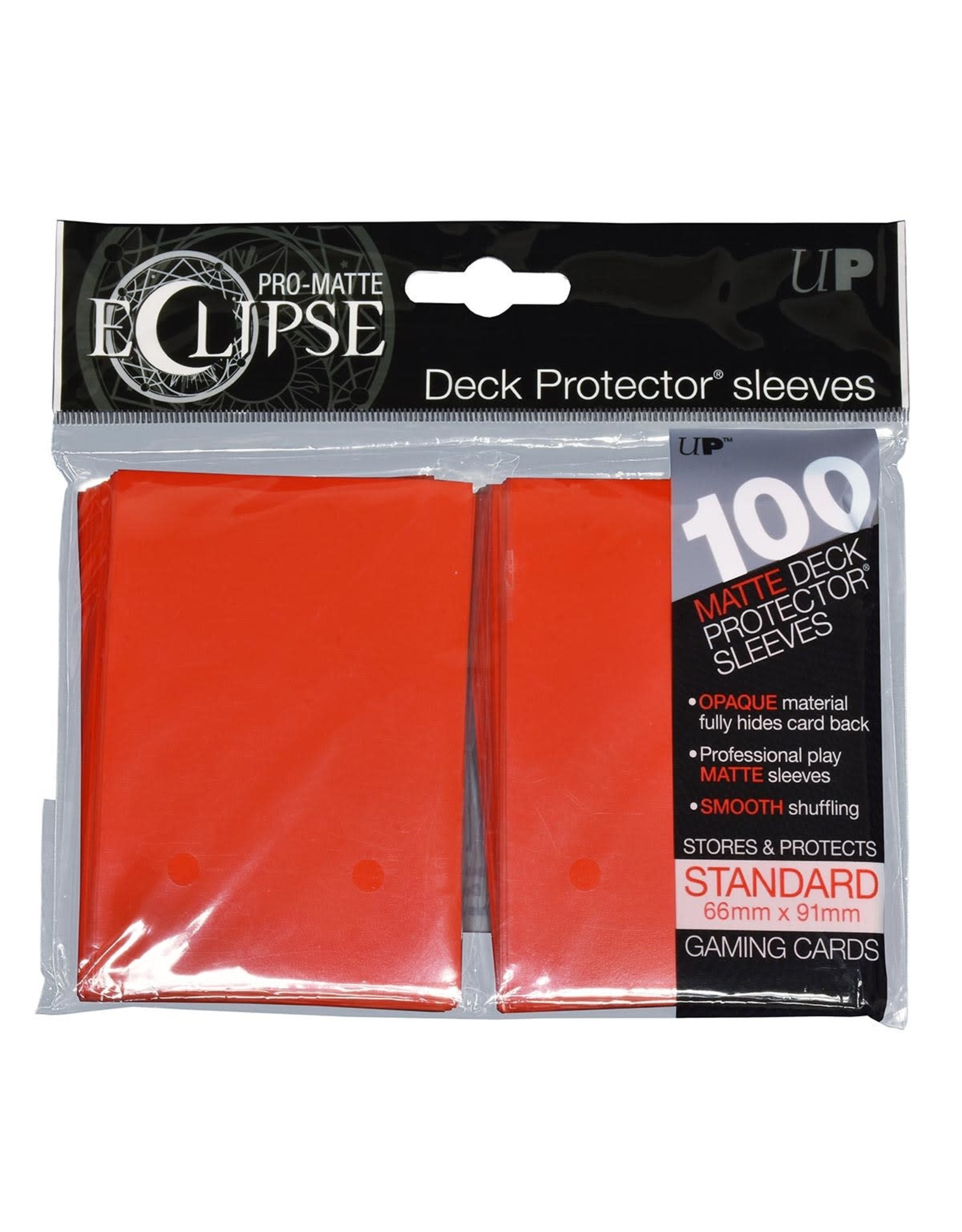 Ultra Pro Eclipse PRO-Matte Sleeves Apple Red 100 count