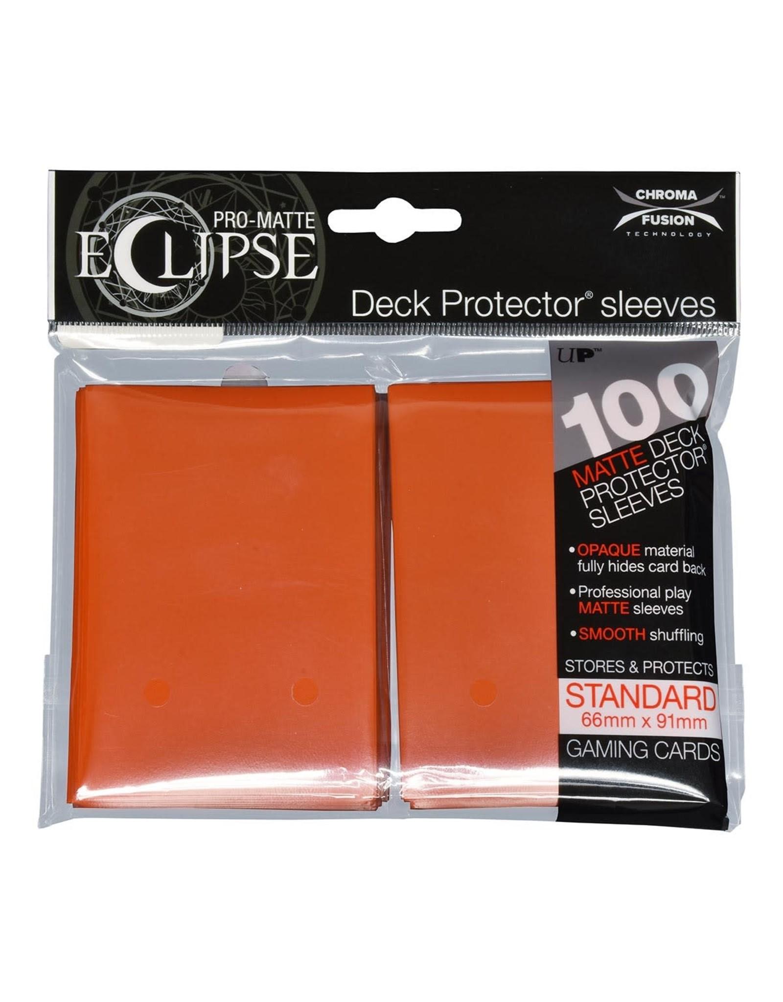 Ultra Pro Eclipse PRO-Matte Sleeves Pumpkin Orange 100 count