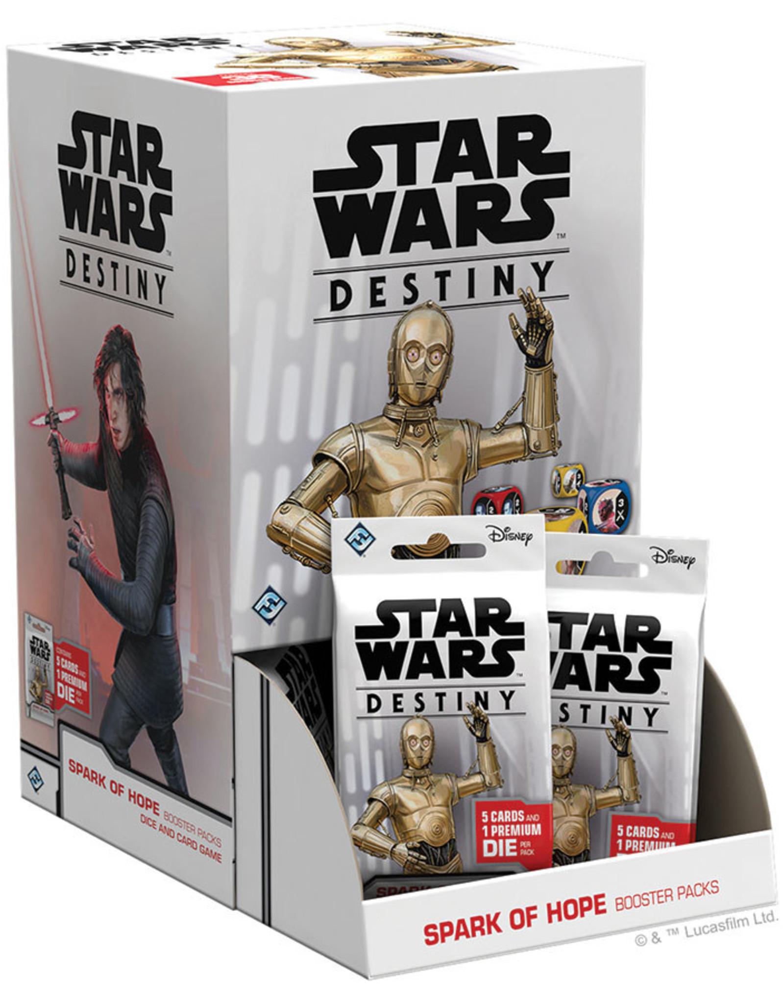 Fantasy Flight Games Star Wars Destiny: Spark of Hope booster display