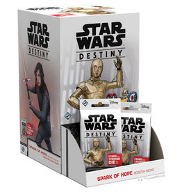 Fantasy Flight Games Star Wars Destiny: Spark of Hope booster display