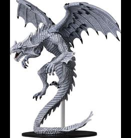 Wizkids Gargantuan White Dragon: PF Deep Cuts Unpainted Miniatures