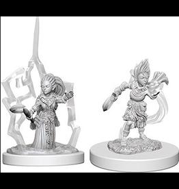 Wizkids Gnome Female Druid: PF Deep Cuts Unpainted Miniatures
