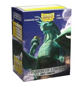Arcane Tinmen Dragon Shield: (100) Art Sleeves Dragon of Liberty