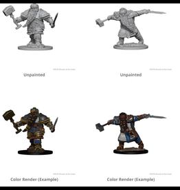 Wizkids Dwarf Male Fighter: D&D Nolzurs Marvelous Unpainted Minis