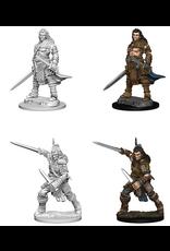 Wizkids Human Male Fighter: PF Deep Cuts Unpainted Miniatures