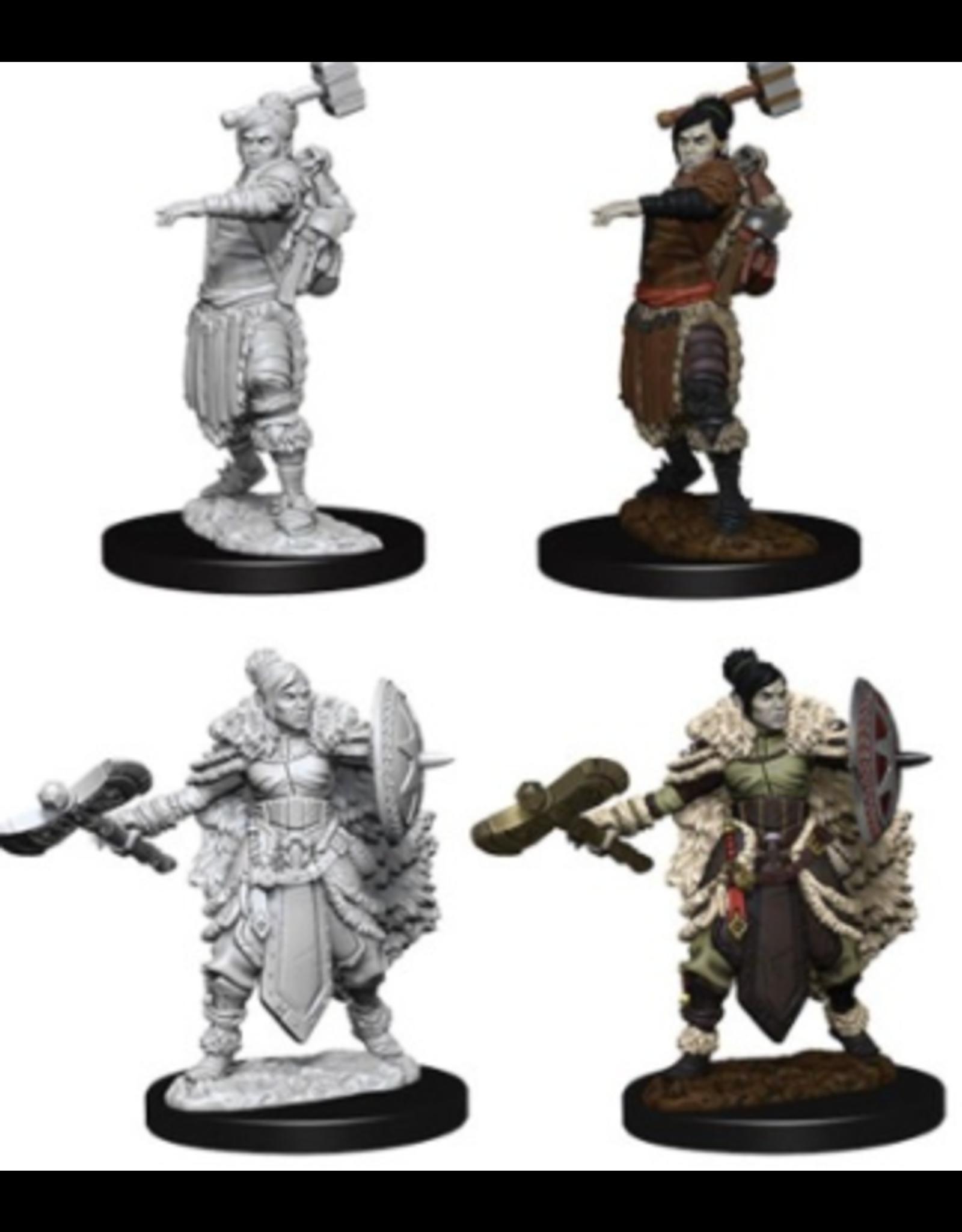 Wizkids W9 Female Half-Orc Barbarian: D&D Nolzurs Marvelous Unpainted Minis