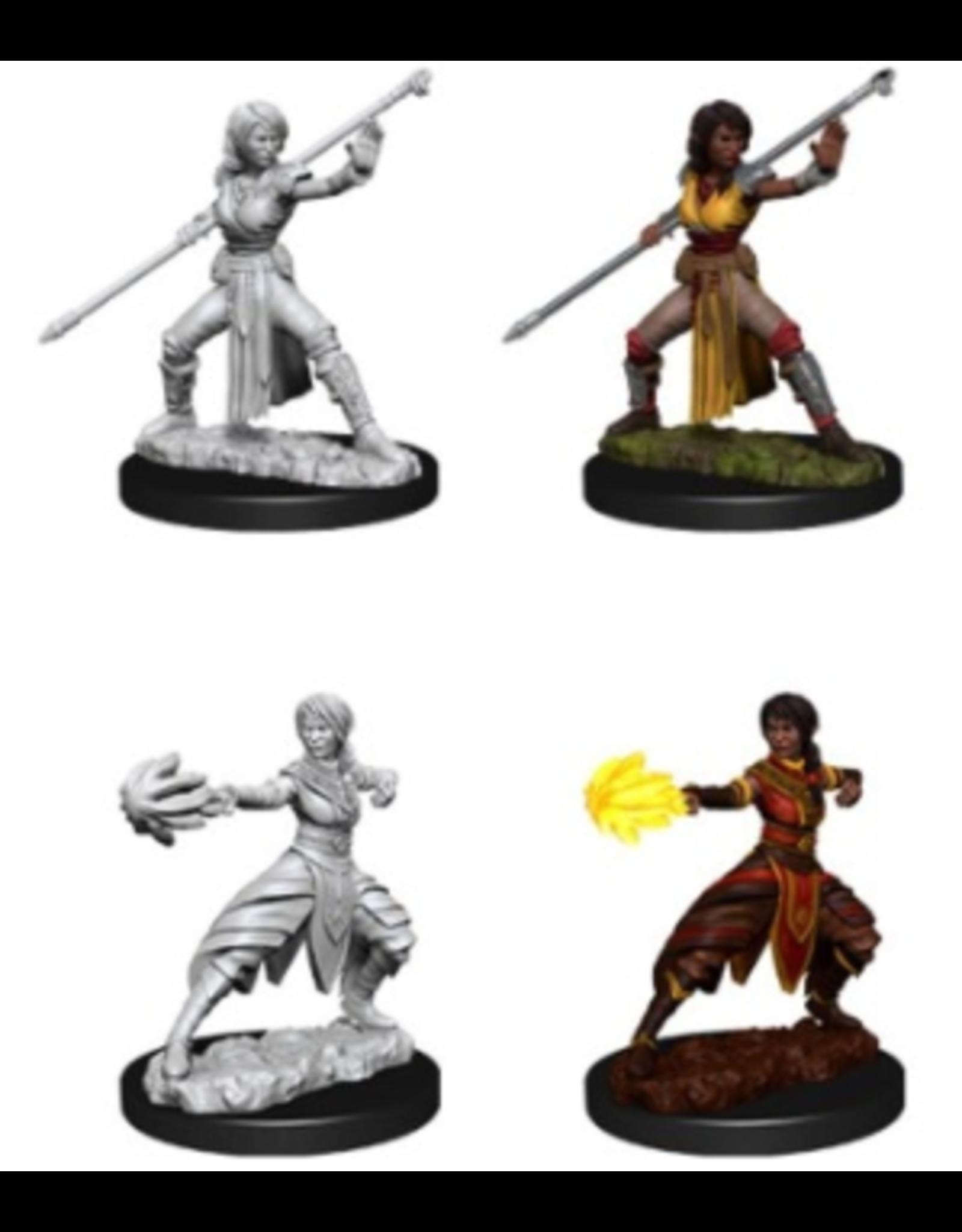 Wizkids W10 Female Half-Elf Monk: D&D Nolzurs Marvelous Unpainted Minis