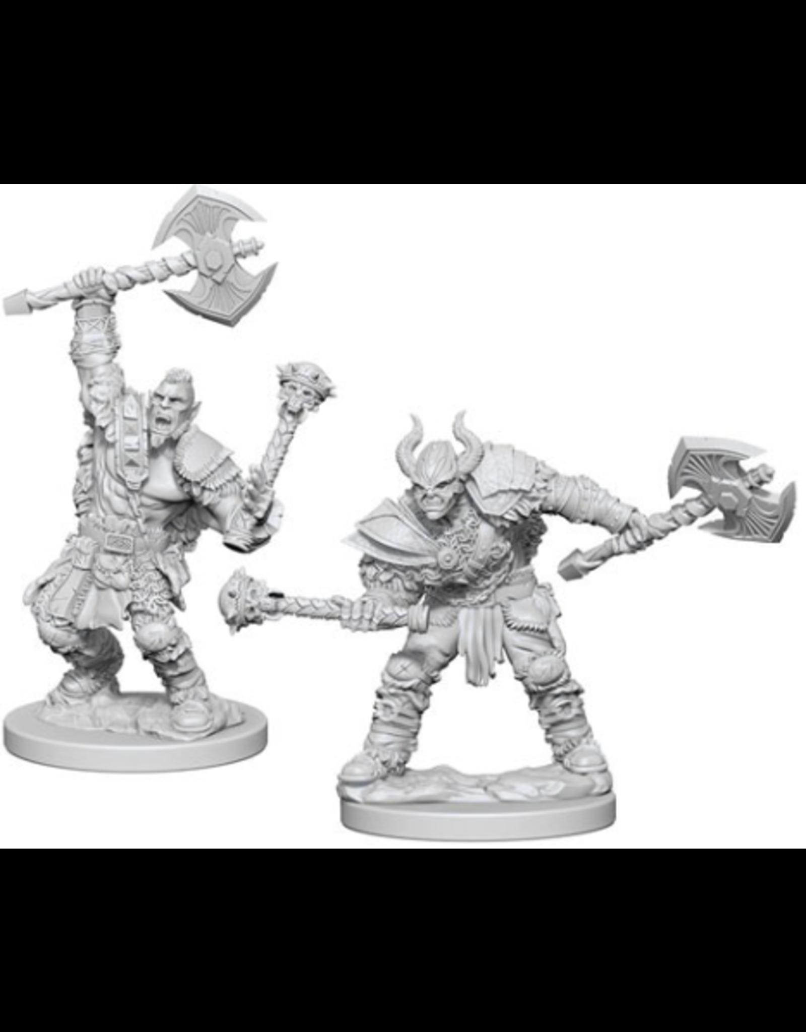 Wizkids Half-Orc Male Barbarian: PF Deep Cuts Unpainted Miniatures
