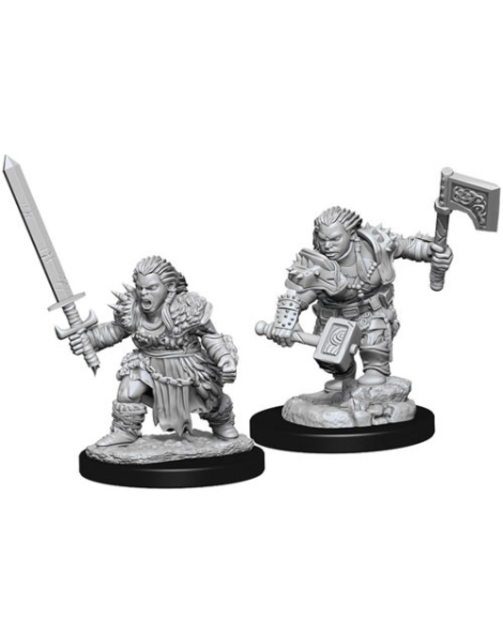Wizkids Wave 8 Dwarf Female Barbarian: PF Deep Cuts Unpainted Miniatures