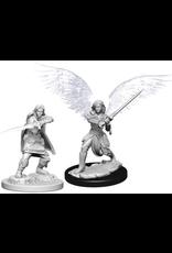 Wizkids D&D Nolzurs Unpainted Minis: Female Aasimar Fighter