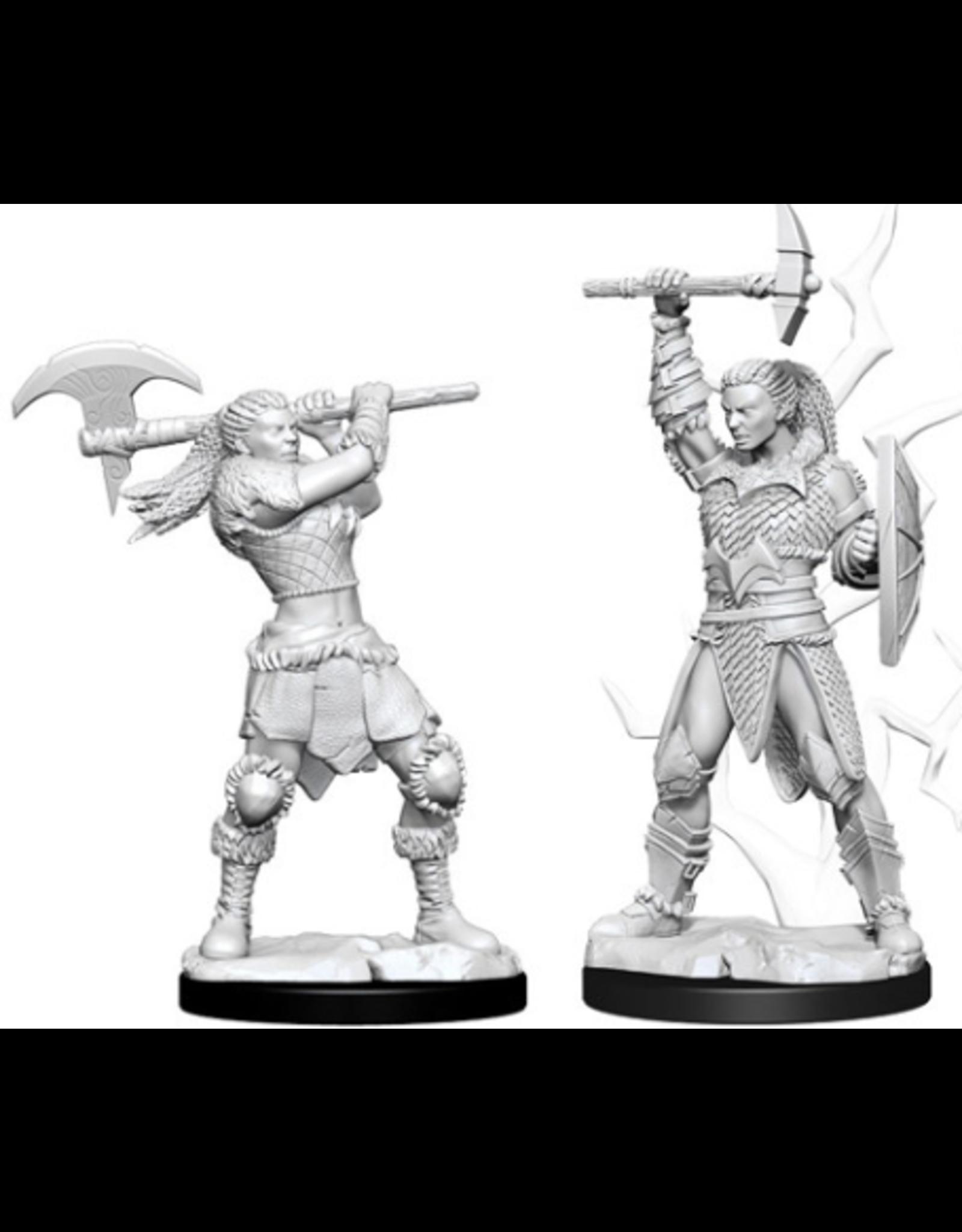 Wizkids W10 Female Goliath Barbarian: D&D Nolzurs Marvelous Unpainted Minis