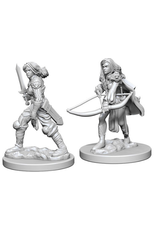 Wizkids Human Female Fighter: PF Deep Cuts Unpainted Miniatures