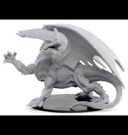 Wizkids Gargantuan Green Dragon: PF Deep Cuts Unpainted Miniatures
