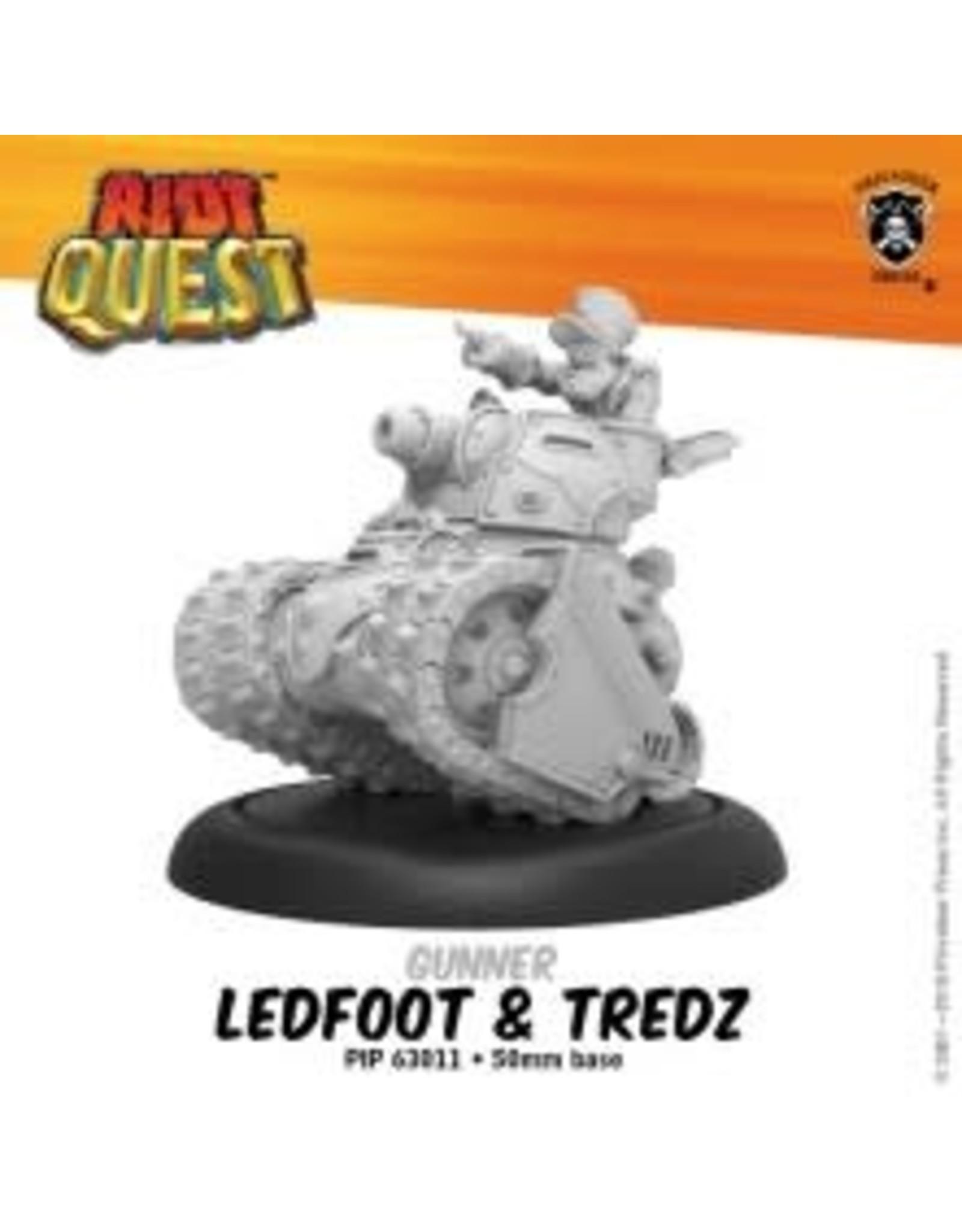 Privateer Press Ledfoot & Tredz – Riot Quest Gunner (metal/resin)