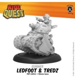 Privateer Press Ledfoot & Tredz – Riot Quest Gunner (metal/resin)