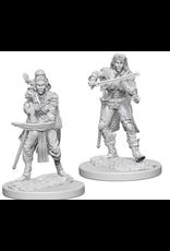 Wizkids Elf Female Bard: PF Deep Cuts Unpainted Miniatures