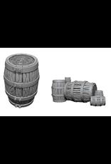 Wizkids Barrel & Pile of Barrels: Deep Cuts Unpainted Miniatures