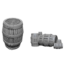 Wizkids Barrel & Pile of Barrels: Deep Cuts Unpainted Miniatures
