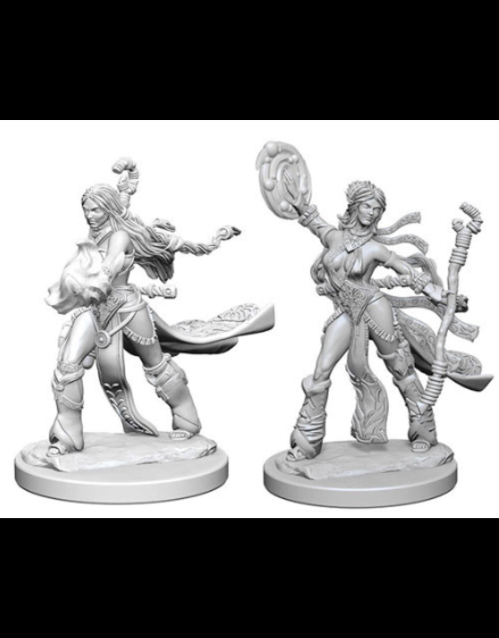 Wizkids Human Female Sorcerer: PF Deep Cuts Unpainted Miniatures
