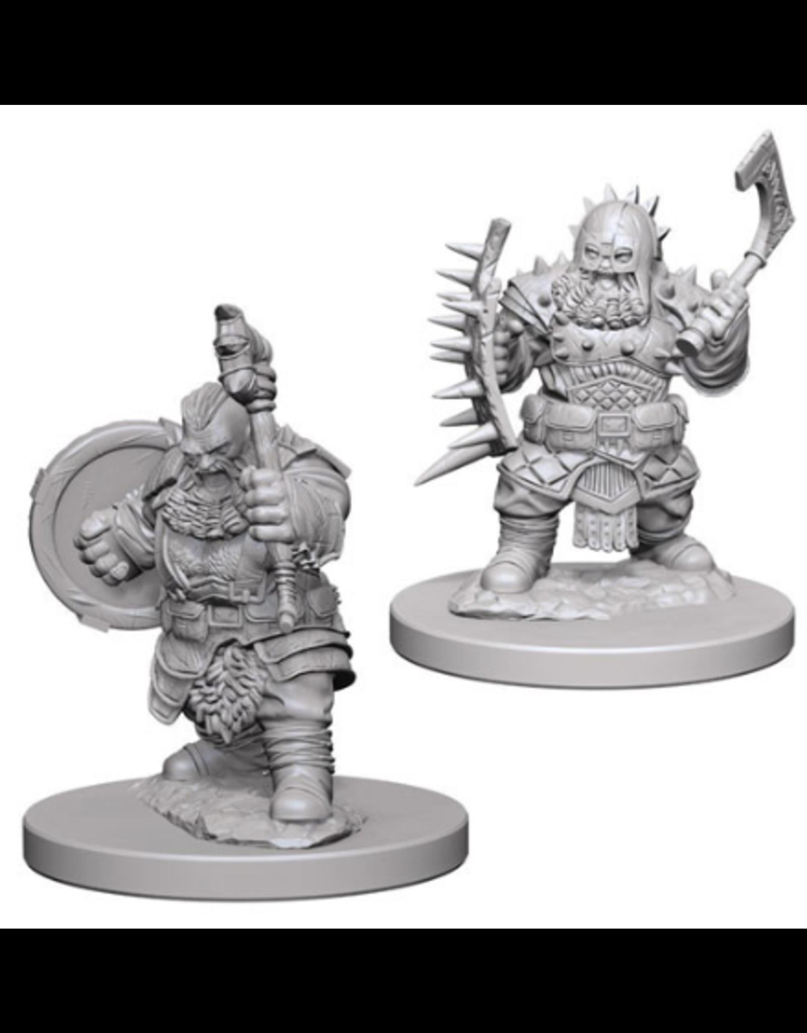Wizkids Dwarf Male Barbarian: PF Deep Cuts Unpainted Miniatures