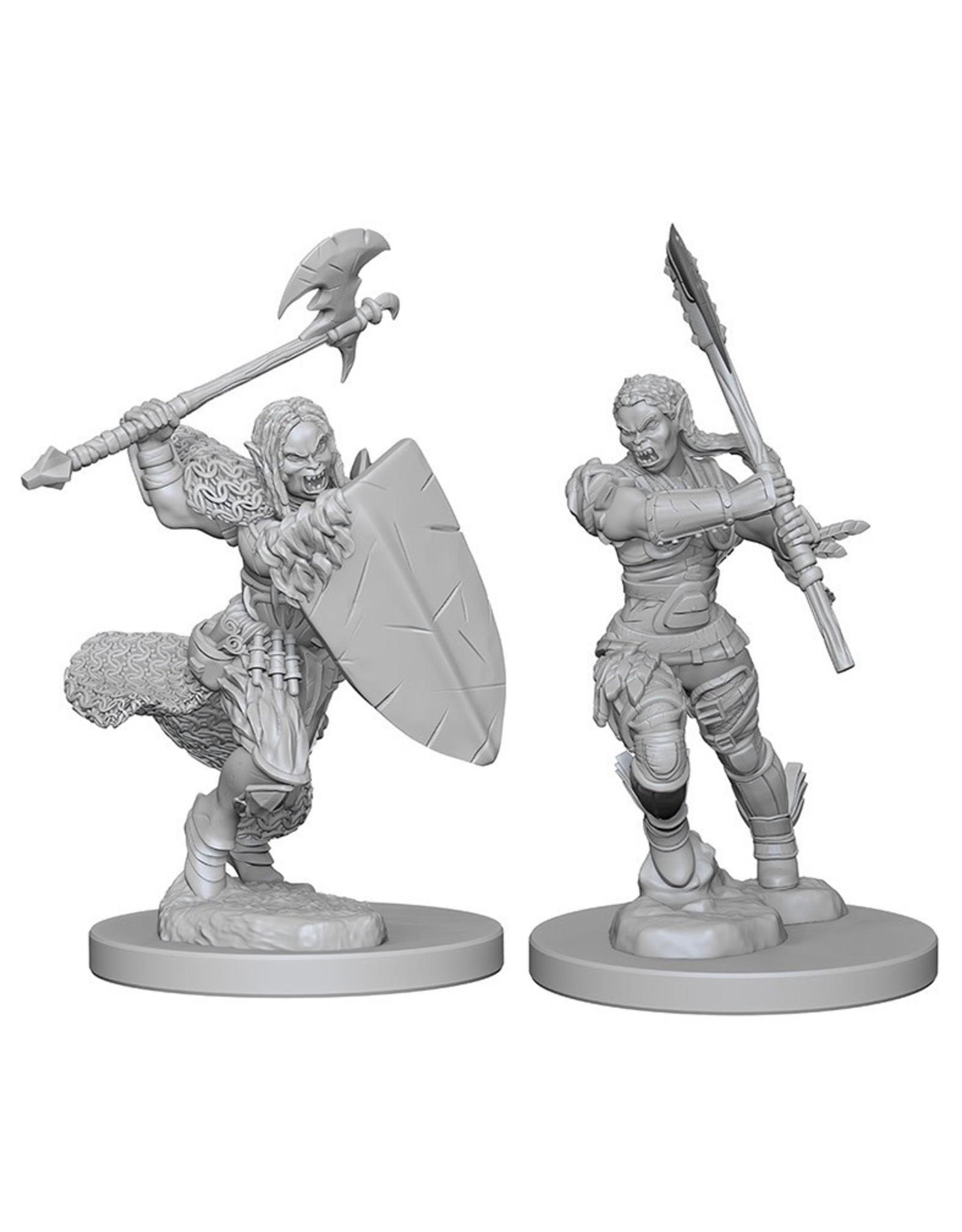 Wizkids Half-Orc Female Barbarian: PF Deep Cuts Unpainted Miniatures