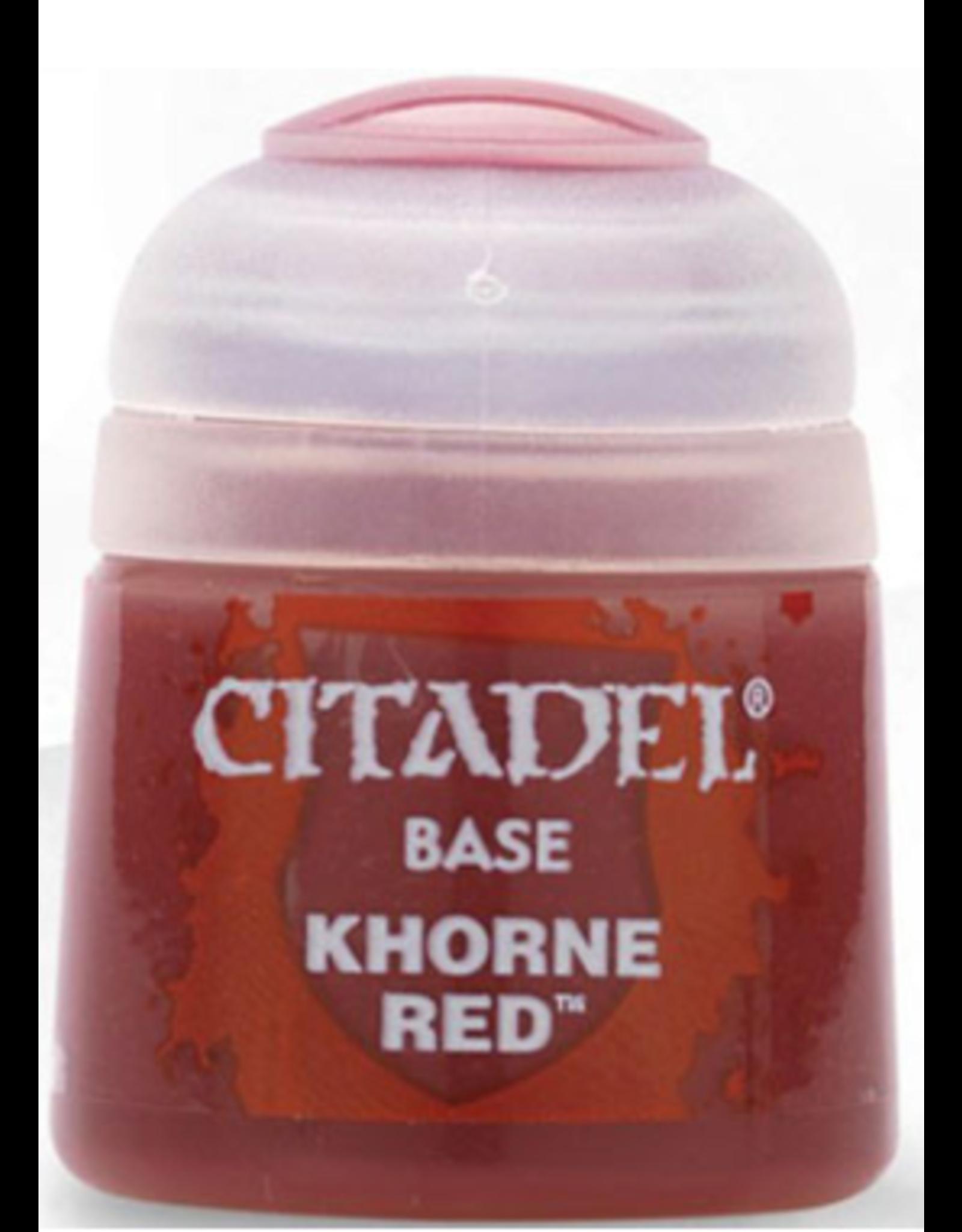 Games Workshop Citadel Base Khorne Red