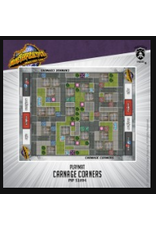 Privateer Press Carnage Corners – Monsterpocalypse fabric playmat