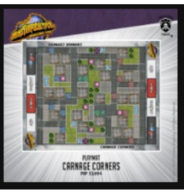 Privateer Press Carnage Corners – Monsterpocalypse fabric playmat