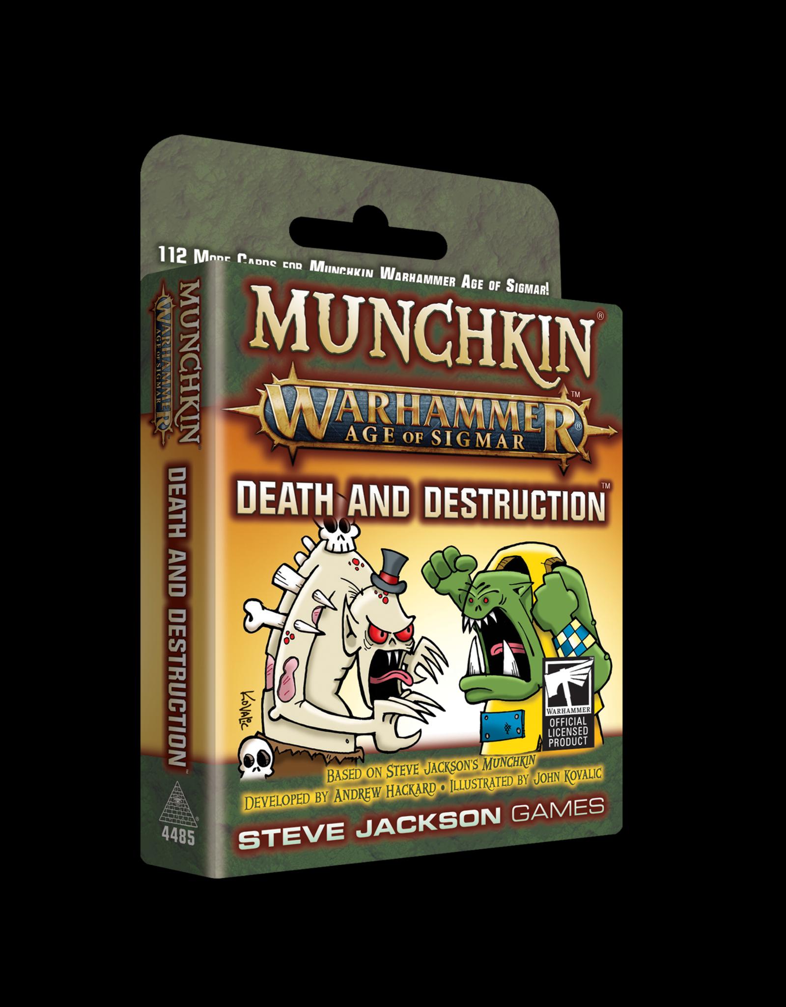 Steve Jackson Games Munchkin: Warhammer Age of Sigmar - Death and Destruction