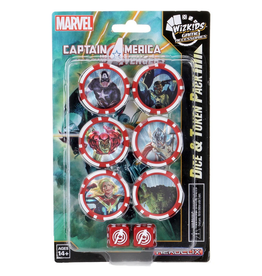 Wizkids Marvel HeroClix: Captain America and the Avengers Dice and Token Pack