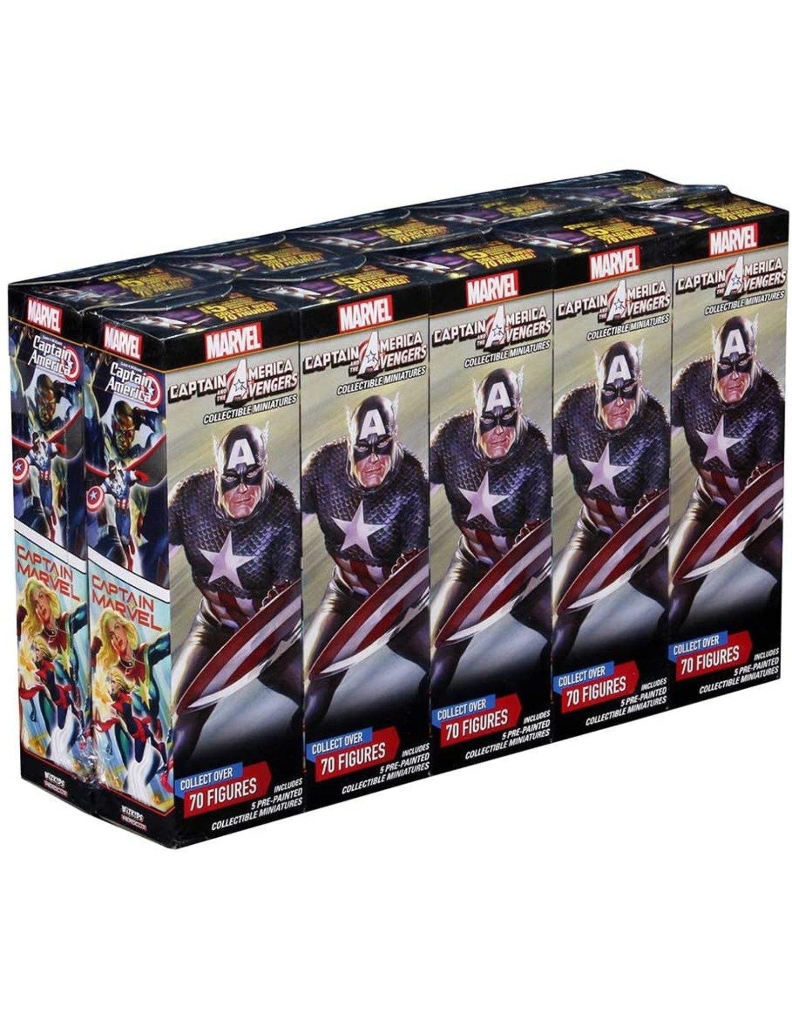 Wizkids Marvel HeroClix: Captain America and the Avengers Booster Brick