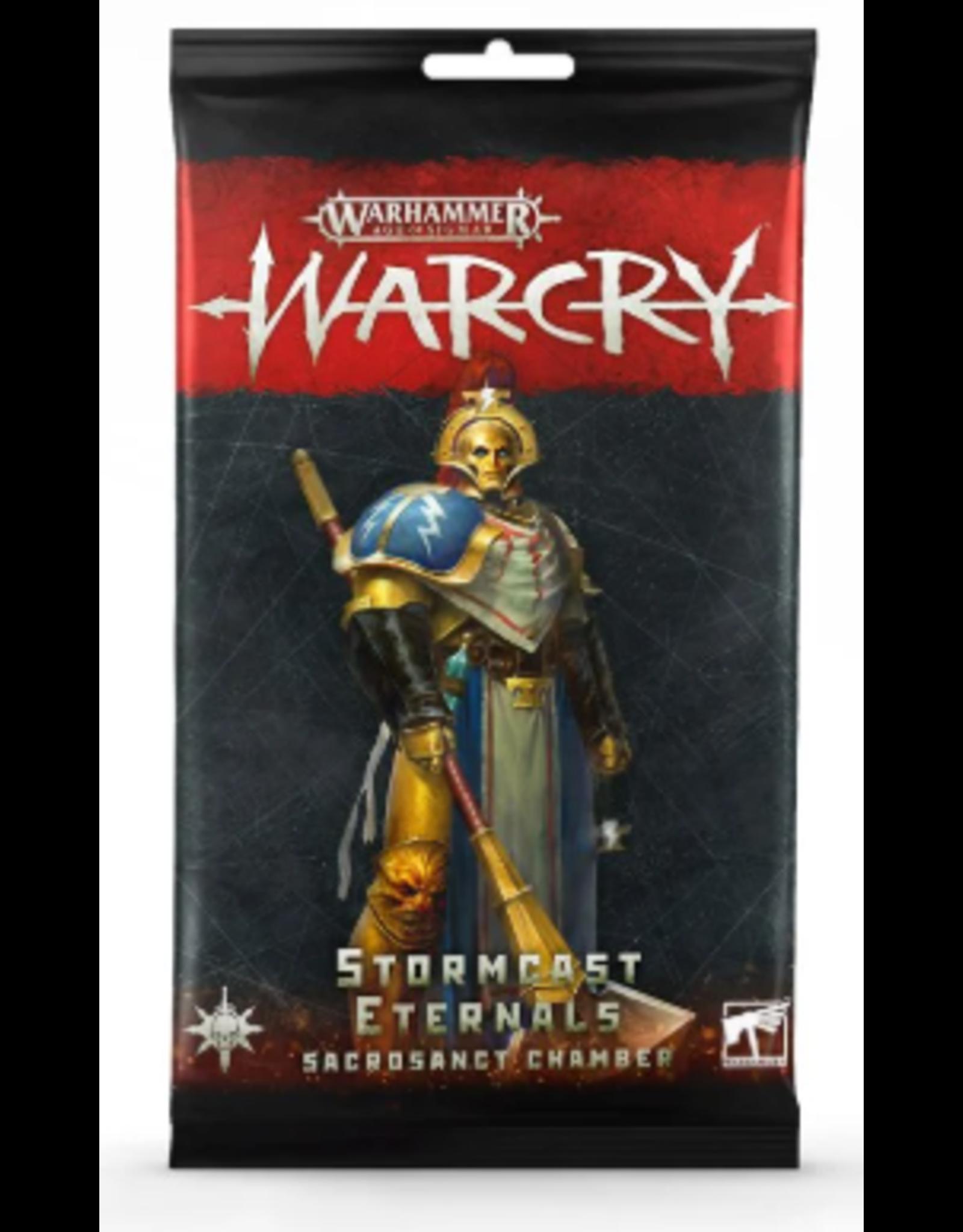 Games Workshop Warcry Stormcast Sacrosanct Chamber Cards
