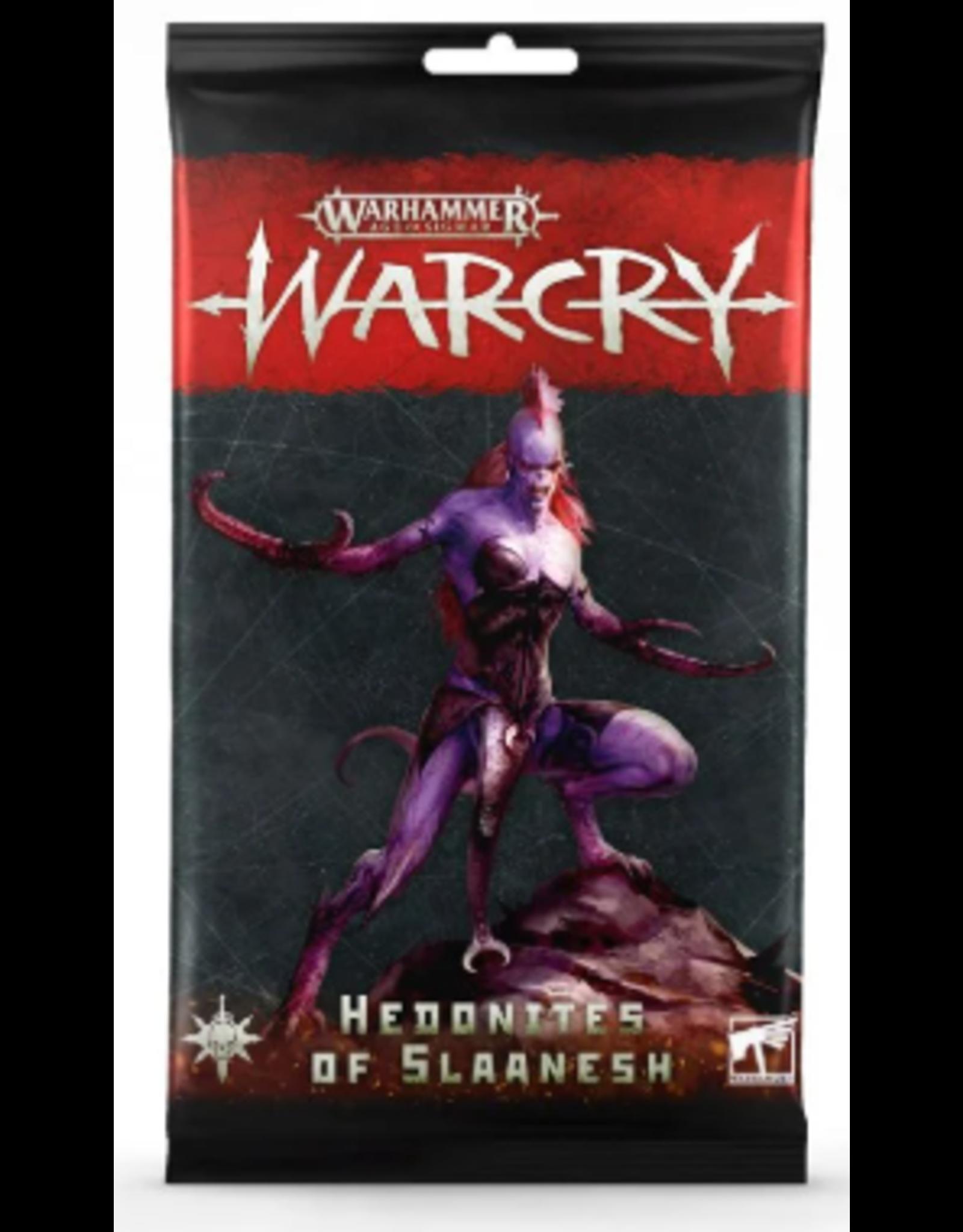 Games Workshop Warhammer Age of Sigmar: Warcry Hedonites of Slaanesh Card Pack