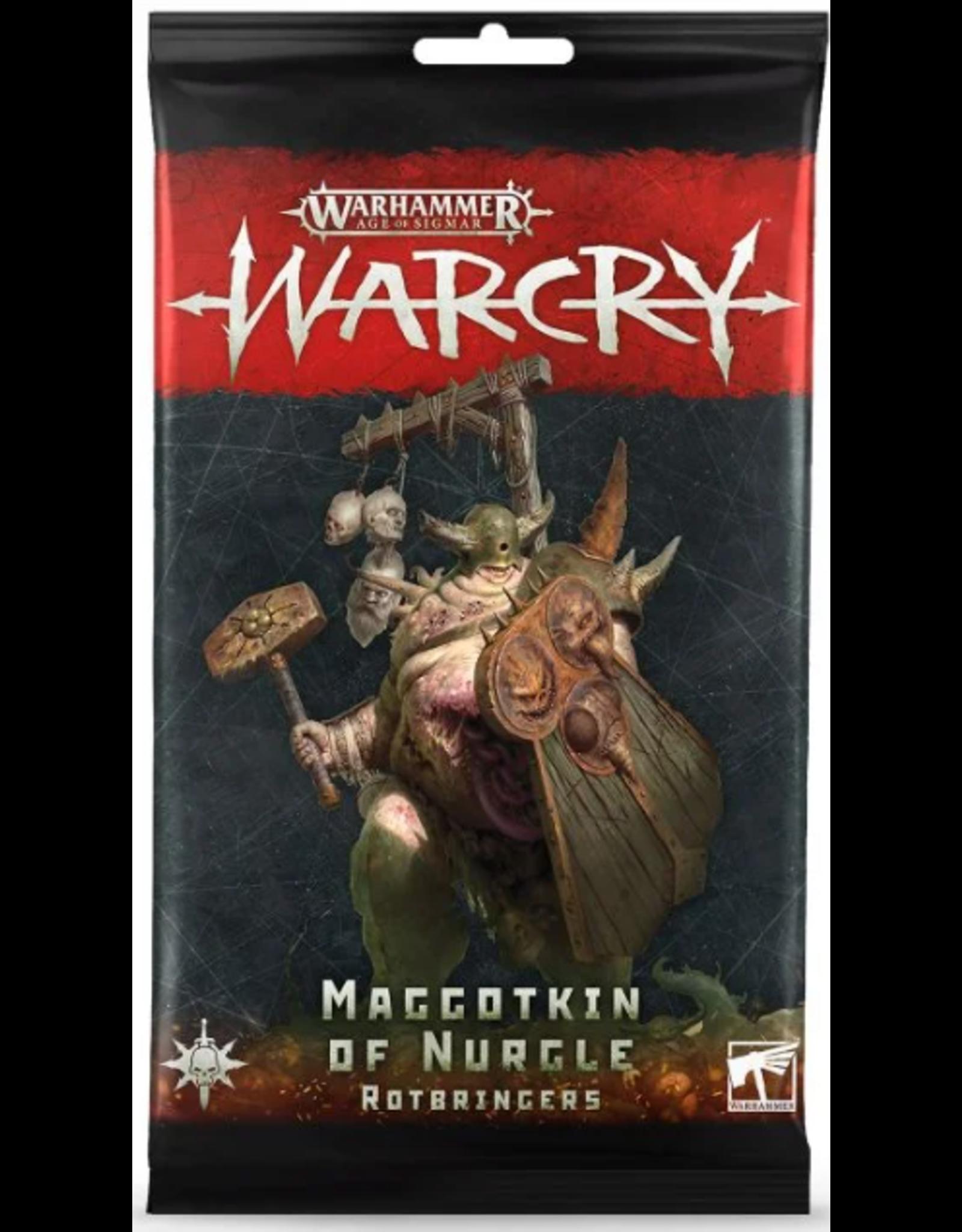 Games Workshop Warcry Nurgle Maggotkin Cards
