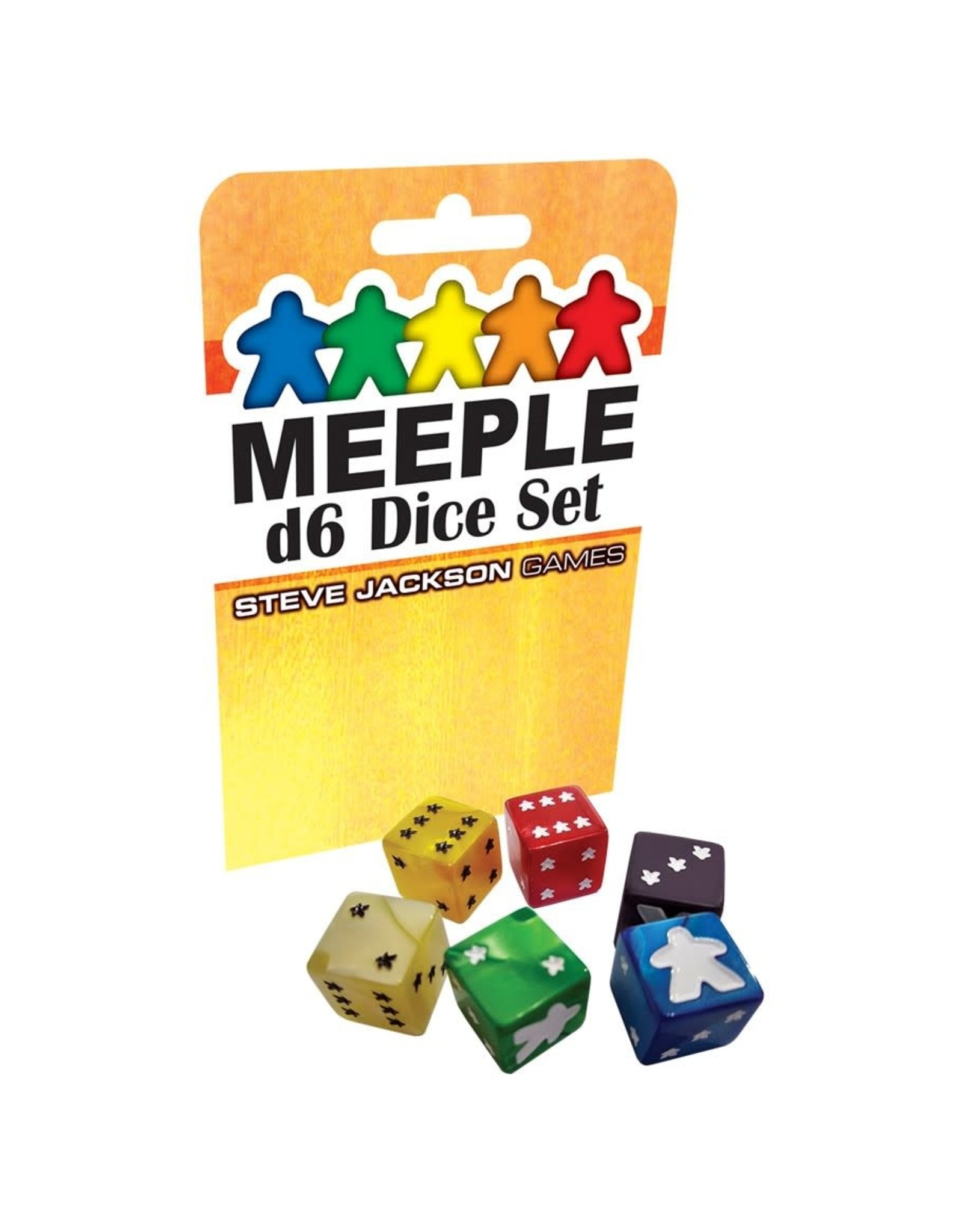 Steve Jackson Games Meeple D6 Dice: Yellow