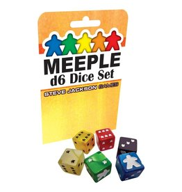 Steve Jackson Games Meeple D6 Dice: Yellow